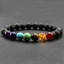 7 Chakra Healing Bracelet – Lava Stone Diffuser Bracelet
