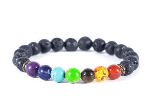7 Chakra Lava Stone Diffuser Bracelet