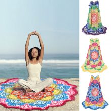mandala lotus beach blanket