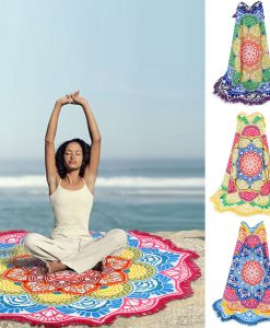mandala lotus beach blanket