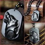 BLACK WOLF OBSIDIAN NECKLACE cover