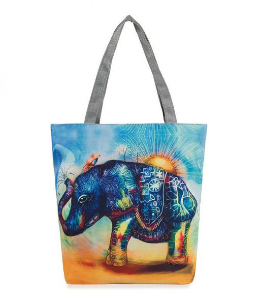 elephant-printed-casual-tote-bag1