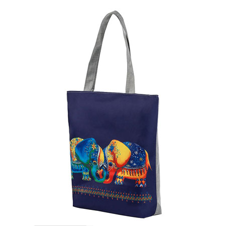 elephant-printed-women-casual-tote-bag2