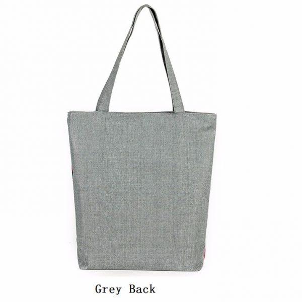 casual printed elephant tote bag back
