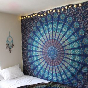 Blue Mandalas Tapestry Bedroom Wall Hangings
