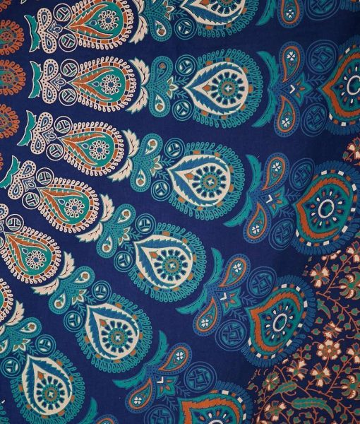 Hippie Mandala Tapestry Indian Blue
