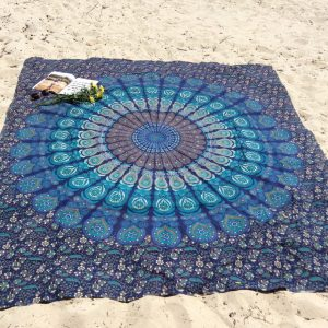 Hippie Mandala Tapestry Indian Blue