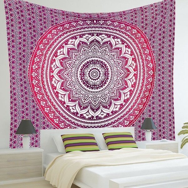 Indian Mandala Wall Hanging Tapestry