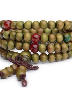 Mala Buddhist Prayer Beads green image