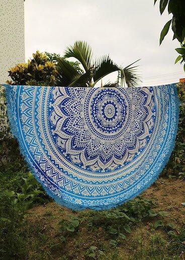 mandala roundie beach towel image