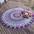Purple Elephant Mandala Beach Blanket