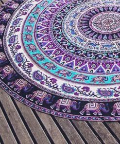 product page about Elephant Mandala Blanket