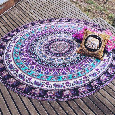 purple elephant mandala blanket photo
