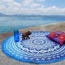 hippie roundie beach towel