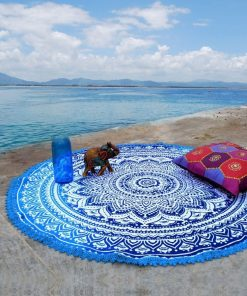hippie roundie beach towel