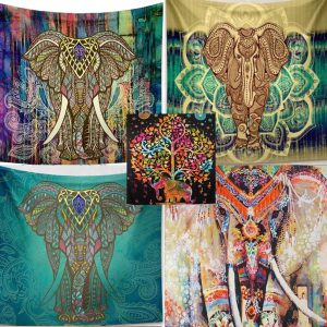 elephant mandala blanket tapestry