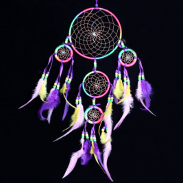 Handmade Dream Catcher with Feather Wall Hanging Decoration