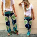 floral harem trousers pants image