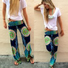 floral harem trousers pants image