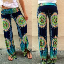Hot gypsy women floral trousers