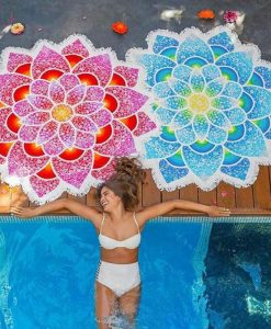 bohemian beach towel - the yoga mandala