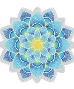 Mandala Yoga bohemian lotus flower beach towel image