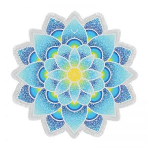 Mandala Yoga bohemian lotus flower beach towel image