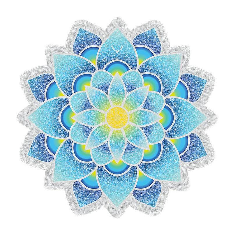 Mandala Yoga Bohemian Lotus Flower Beach Towel The Yoga