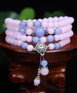 6mm Chalcedony Beads Tibetan Buddhist 108 Prayer Beads