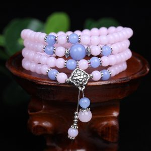 6mm Chalcedony Beads Tibetan Buddhist 108 Prayer Beads