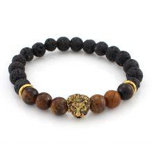 Agate Stones Lion Eye Mala Energy Beads