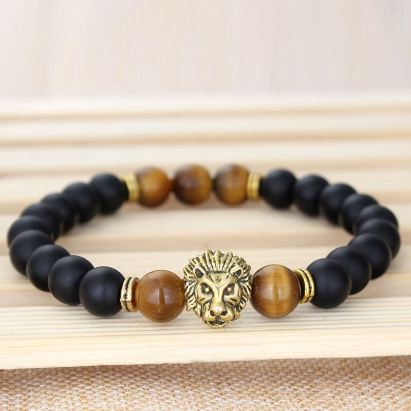 Agate Stones Lion Eye Mala Energy Beads Bracelet