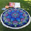 Mandala Round Bohemian Beach Blanket