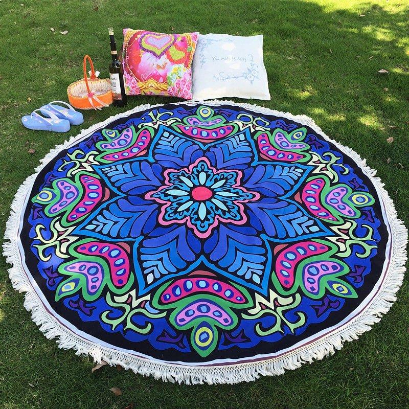 Round Boho Beach Blanket