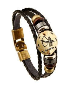 Zodiac Leather Bracelet