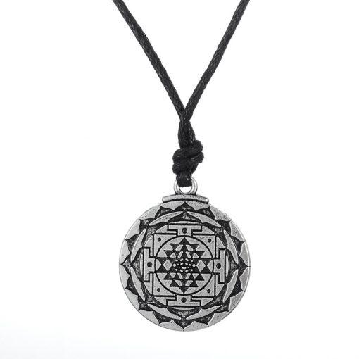 Chakra 3rd Eye Sri Yantra Necklace
