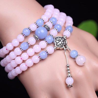 cheap 6mm Chalcedony Beads Tibetan Buddhist 108 Prayer Beads
