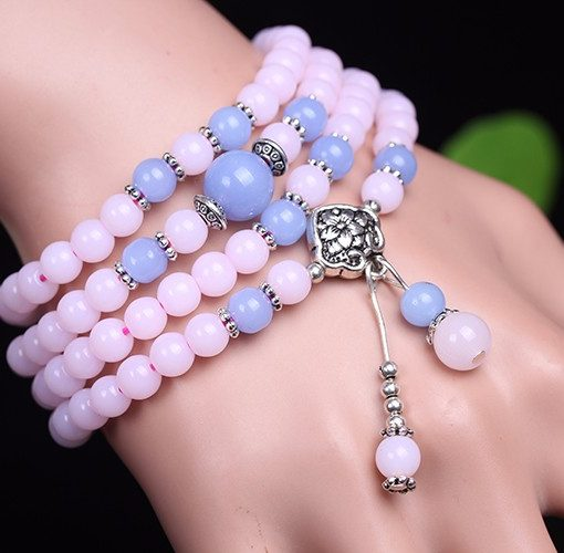 cheap 6mm Chalcedony Beads Tibetan Buddhist 108 Prayer Beads