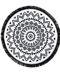 black and white mandala blanket