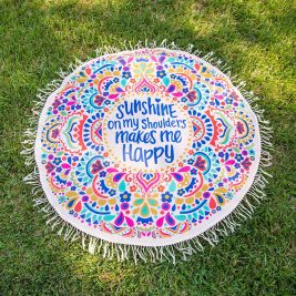 Mandala Yoga Beach Blanket