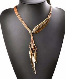 native american feather necklace
