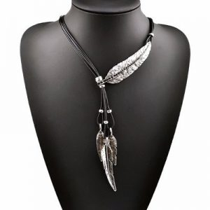 Sterling Silver Freedom Feather Pendant Necklace