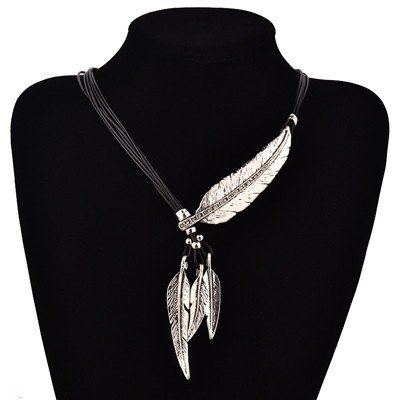 feather necklace of truth silver white cover image