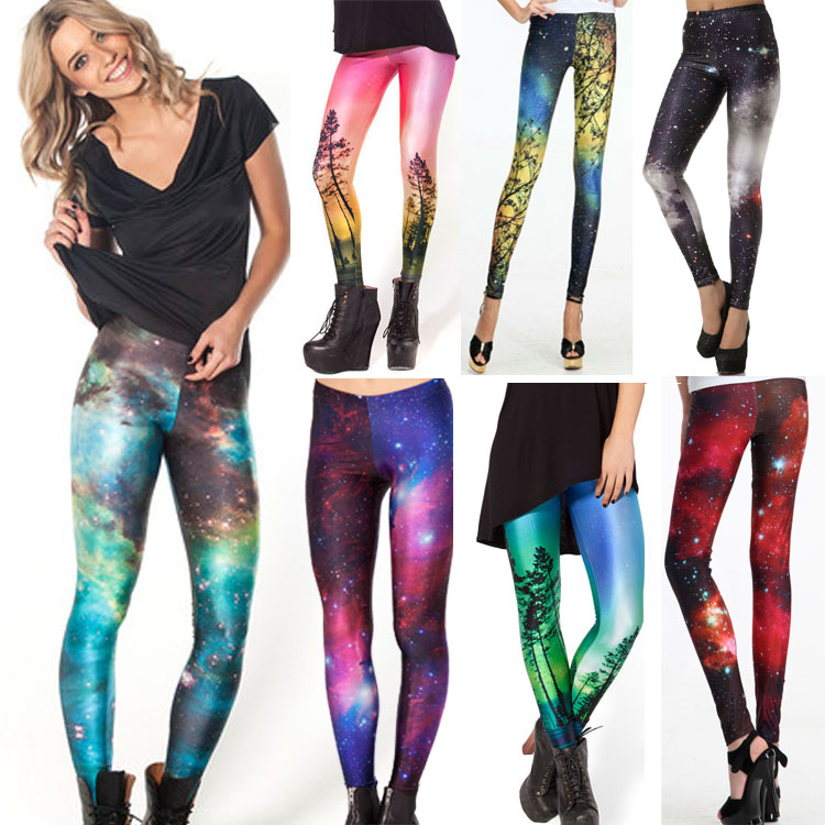 Galaxy Print Yoga Leggings - Galaxy Yoga Pants