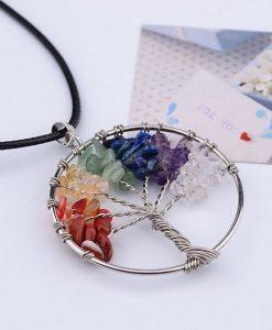 chakra tree of life necklace image