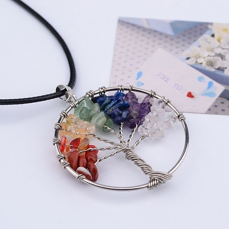 The Benefits Of Wearing Chakra Jewelry - Tree Of Life Chakra Necklace