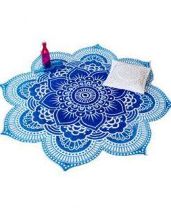 Mandala Lotus Flower Blanket