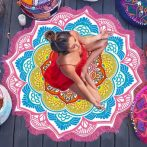 mandala-lotus-flower-shape-beach-blanket-pink