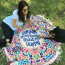 Sunshine Mandala Yoga Beach Blanket