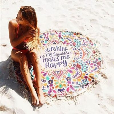 Mandala Yoga Beach Blanket